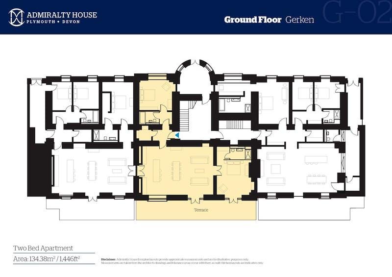 Gerken, Admiralty House, Plymouth floorplan