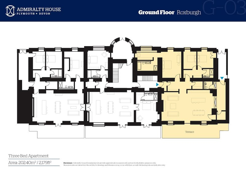 Roxburgh, Admiralty House, Plymouth floorplan