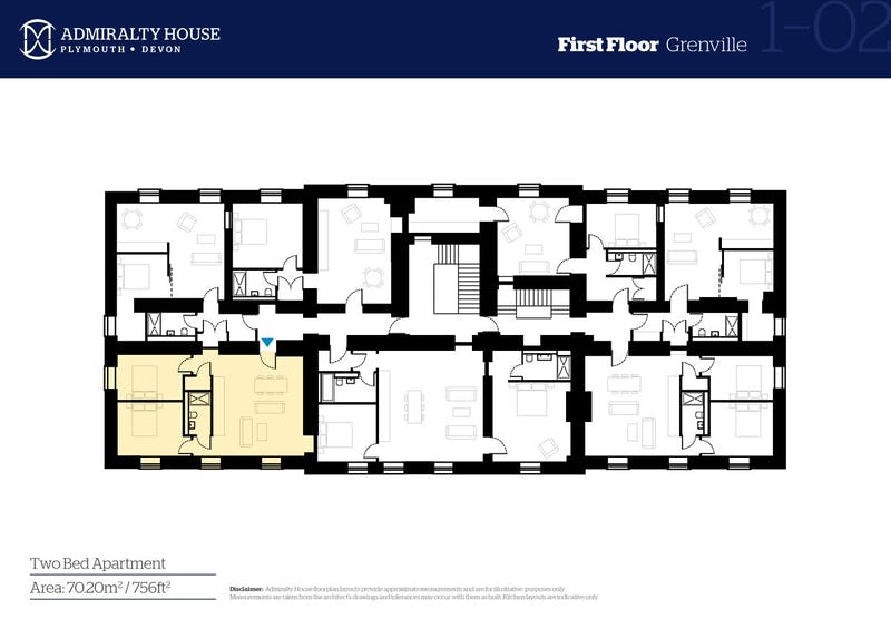 Grenville, Admiralty House, Mount Wise, Plymouth floorplan