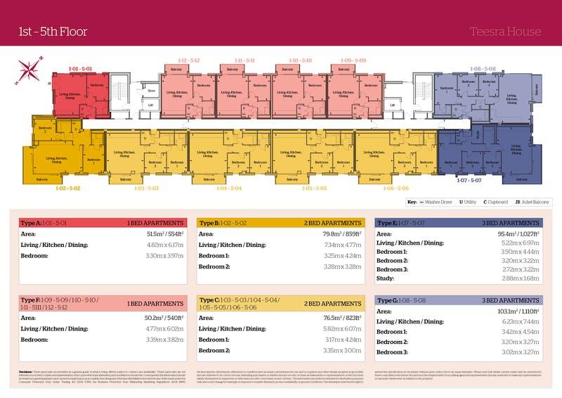 Plot 2-02 Teesra House, Mount Wise, Plymouth floorplan